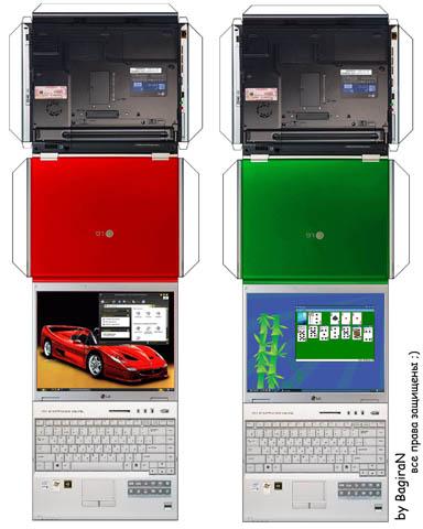 Как сделать из бумаги маленький ноутбук